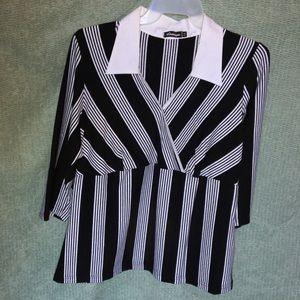 Striped Blouse in Black/White